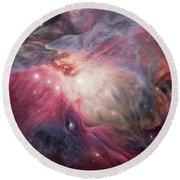 Orion Nebula M42 Round Beach Towel