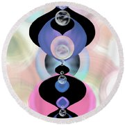 Ornamental Fascination Round Beach Towel