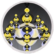 Ornamental Illumination Round Beach Towel