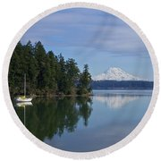 Oro Bay IIi Round Beach Towel by Sean Griffin