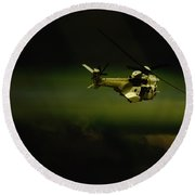 Round Beach Towel featuring the photograph Oryx by Paul Job