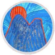 Os Dois Irmaos Original Painting Sold Round Beach Towel