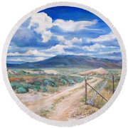 Osceola Nevada Ghost Town Round Beach Towel