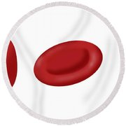 Osmotic Pressure On Blood Cells Round Beach Towel