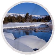 Round Beach Towel featuring the photograph Otter Creek by Jack Bell