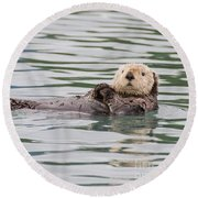 Otterly Adorable Round Beach Towel