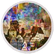 Our Old Town Round Beach Towel