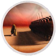 Out Of Egypt Round Beach Towel