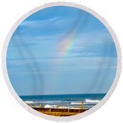 Out Of The Blue  Round Beach Towel by Mary Ward