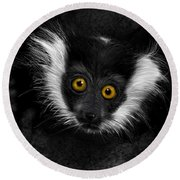 Out Of The Dark Round Beach Towel