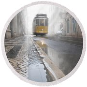 Out Of The Haze Round Beach Towel