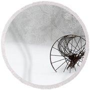 Out Of The Mist A Forgotten Era II Round Beach Towel by Greg Reed