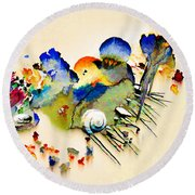 Out Of The Sea - Abstract Round Beach Towel