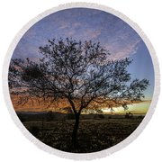 Outback Sunset  Round Beach Towel