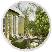 Outdoor Furniture At Shoreland House Round Beach Towel
