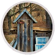 Outhouse - 5 Round Beach Towel by Paul Ward