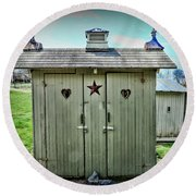 Outhouse - His And Hers Round Beach Towel