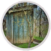 Outhouse In Spring Round Beach Towel
