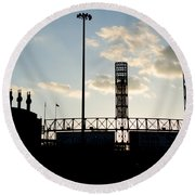 Outside Comiskey Park Round Beach Towel
