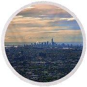 Over East New York Round Beach Towel