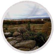 Over The Battle Field Of Gettysburg Round Beach Towel