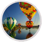 Over The Water Round Beach Towel