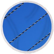 Round Beach Towel featuring the photograph Overhead by Wendy Wilton