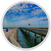 Overseas Highway Florida Keys Round Beach Towel
