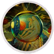 Ovule Of Eden  Round Beach Towel by Robin Moline