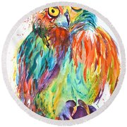 Owl Be Seeing You Round Beach Towel
