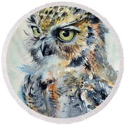 Owl Round Beach Towel
