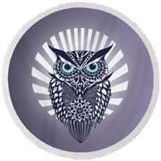 Owl Round Beach Towel by Mark Ashkenazi