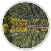 Oxbow Abstract Round Beach Towel