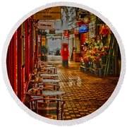 Oxford Covered Market Hdr Round Beach Towel