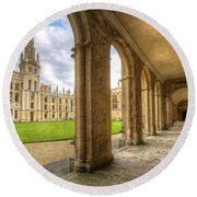 Oxford University - All Souls College 2.0 Round Beach Towel