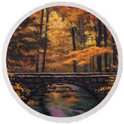 Ozark Stream Round Beach Towel