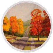 Ozarks October Round Beach Towel