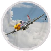 P51 Mustang And Me 262 Round Beach Towel