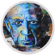 Pablo Picasso Round Beach Towel by Richard Day