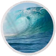 Pacific Big Wave Crashing Round Beach Towel