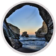 Round Beach Towel featuring the photograph Pacific Coast - 2 by Mark Madere