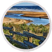 Round Beach Towel featuring the photograph Pacific Coast - 4 by Mark Madere
