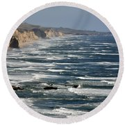 Pacific Coast - Image 001 Round Beach Towel