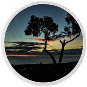 Round Beach Towel featuring the photograph Pacific Evening by Michael Gordon