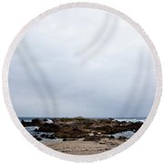 Pacific Horizon Round Beach Towel by Melinda Ledsome