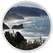 Pacific Mist Round Beach Towel