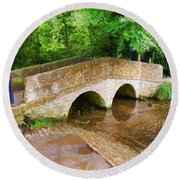 Pack Horse Bridge Round Beach Towel