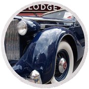 Packard 1207 Convertible 1935 Round Beach Towel