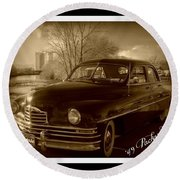 Packard Classic At Truckee River Round Beach Towel