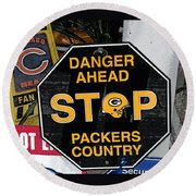 Packers Country Round Beach Towel